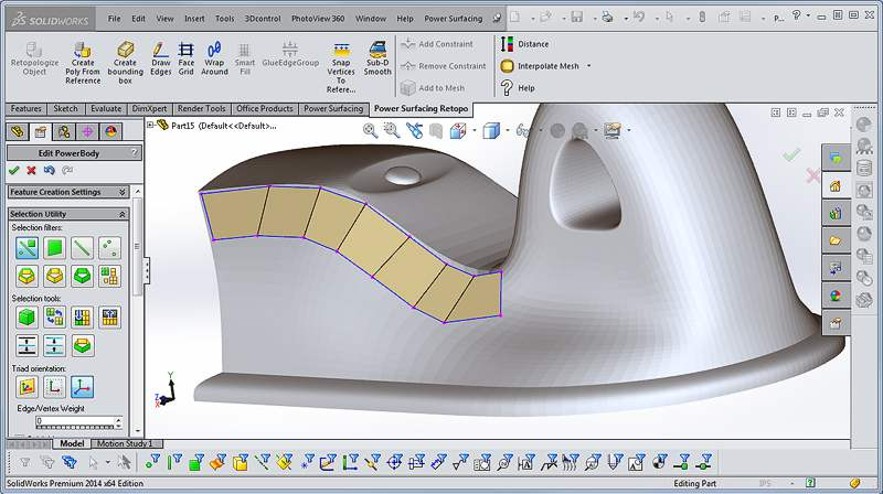 Power Surfacing RE for SolidWorks - CGPress