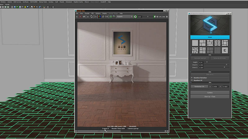 SLiB | Floor Vol  I with floor generator for Maya released - CGPress