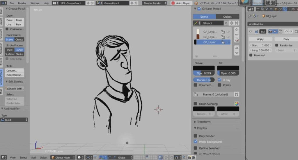Grease Pencil animated strokes with Blender - CGPress