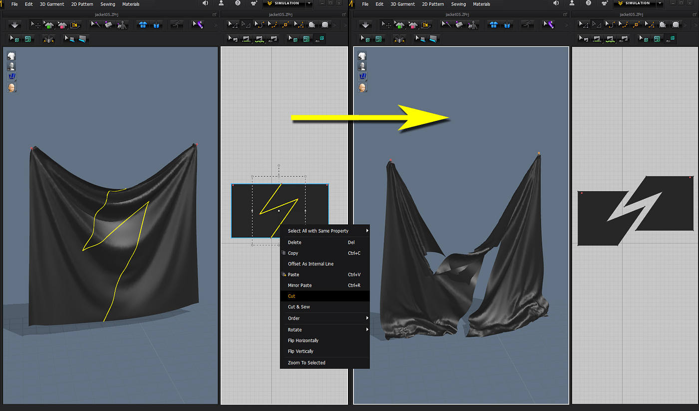 Marvelous designer 5 review cgpress in previous releases changing your mind on your design late in the process was extremely tedious if you wanted to split a pattern jeuxipadfo Image collections
