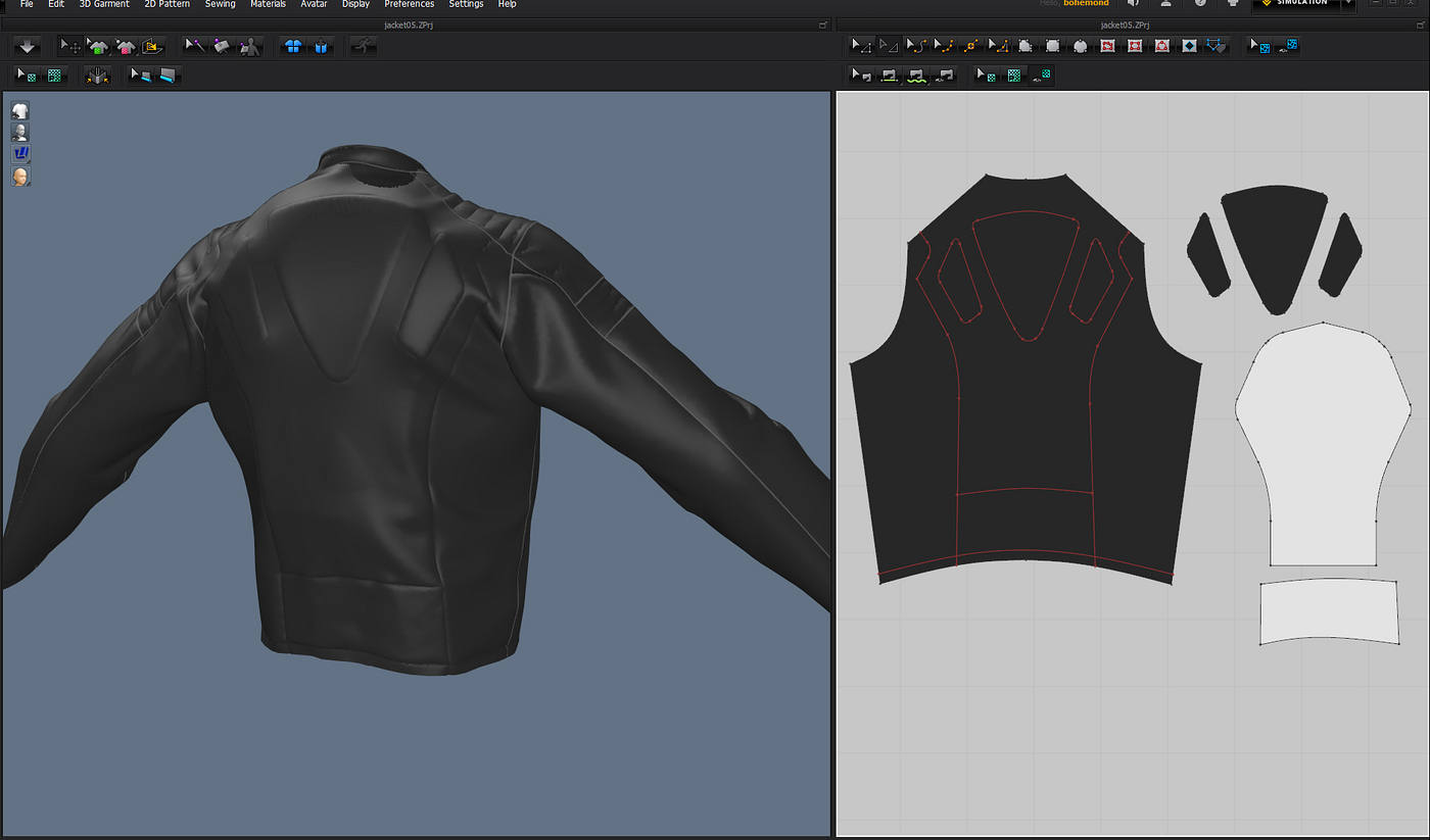 Marvelous designer 5 review cgpress the other major feature of this new release is trace trace is a new function with its own button in the toolbar draw a few internal lines select them jeuxipadfo Image collections