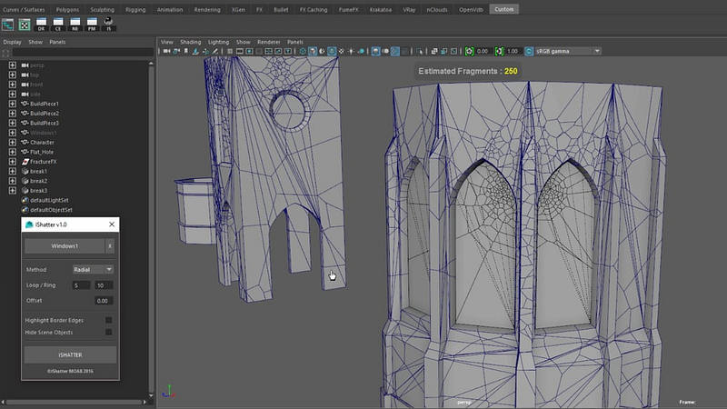 IShatter tool for Maya and Fracture FX - CGPress