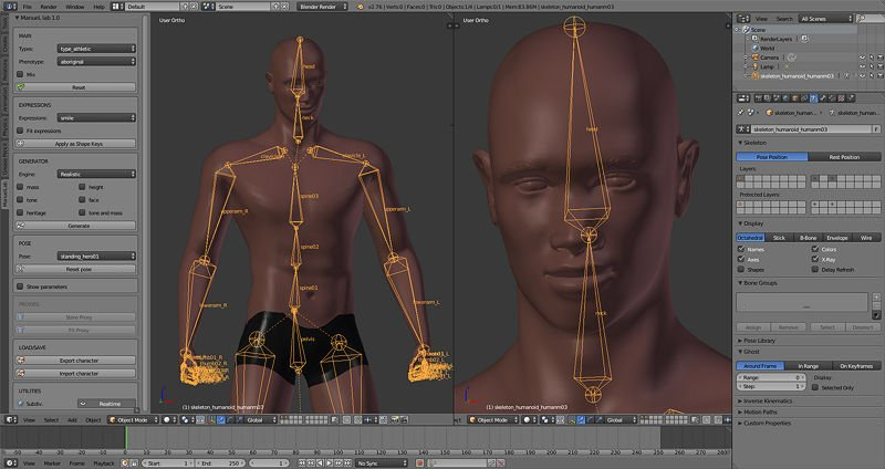 Manuel Bastioni Lab free human models creation tool - CGPress