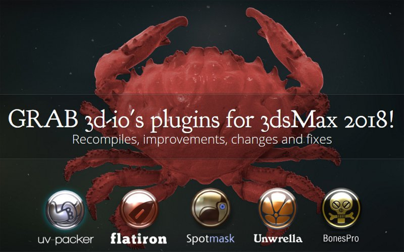 3d-io releases 2018 plugin updates, new features added - CGPress