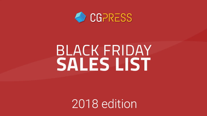 Black Friday / Cyber Monday 2018 CG sales - CGPress