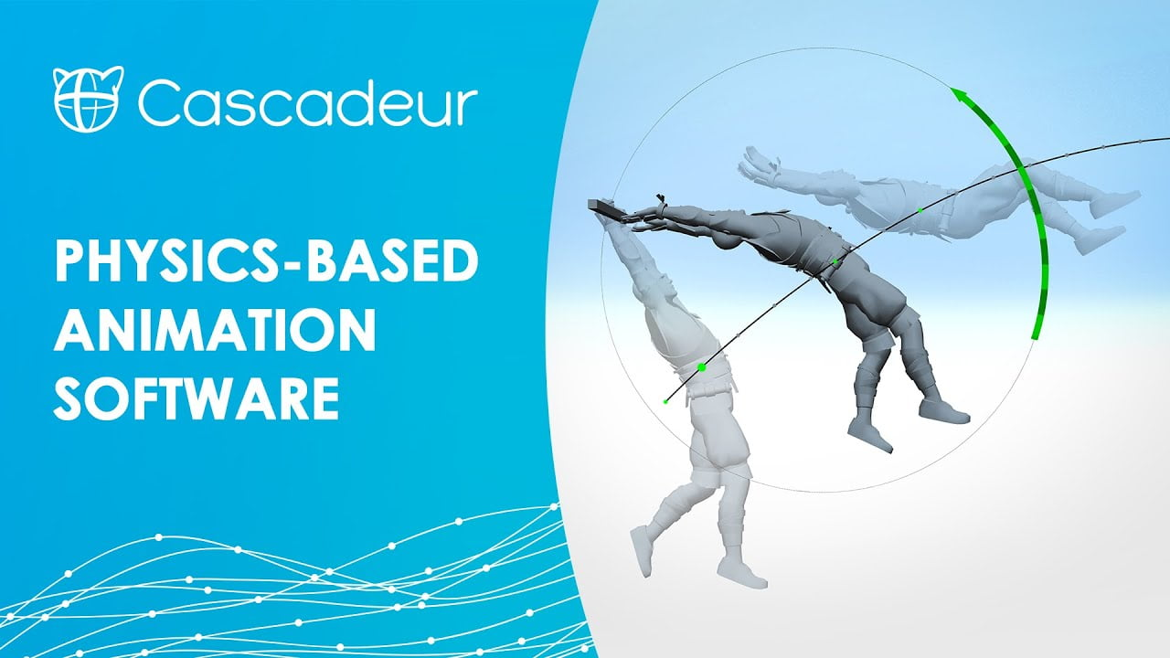 Cascadeur app offers physics based animation for stunts without mocap