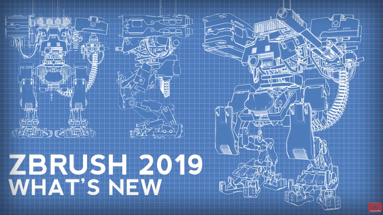 What's new in ZBrush 2019 - 45 part video tutorial - CGPress